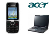 Acer Notebook TMP253 + Nokia C2-01 Black