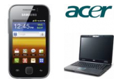Acer Notebook TMP253 + Samsung Galaxy Y S5360 Metallic Gray